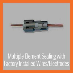 Multiple Element Fittings with Factory Installed Wires/Electrodes